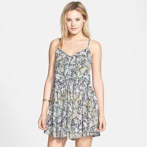EUC Strappy Back Paisley Print Dress